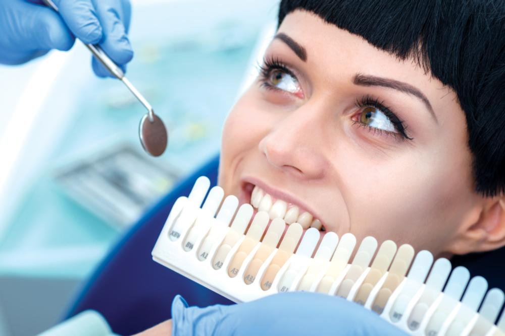 Woman Getting Teeth Whitened | Garden Springs Dental